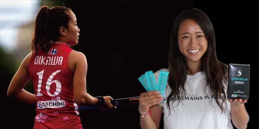 及川栞選手女子ホッケー日本代表
