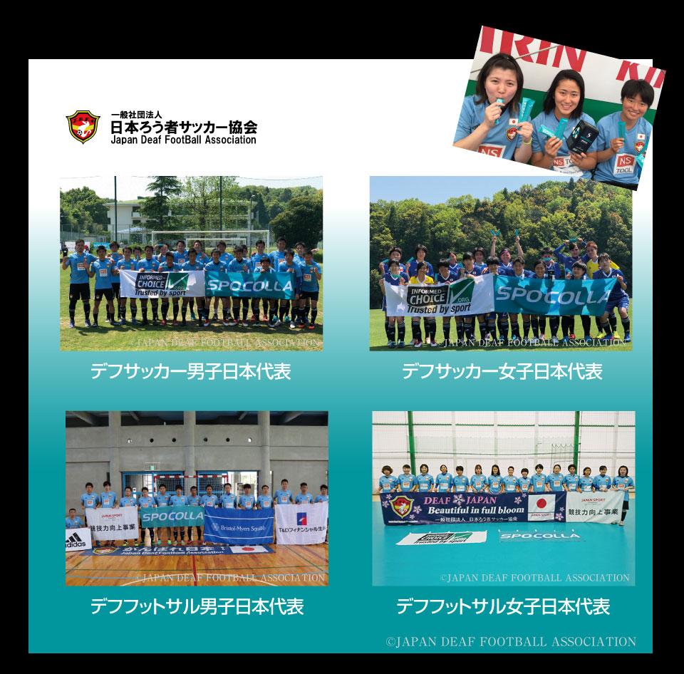 スポコラチームサポート デフフットサル・サッカー男女 日本代表